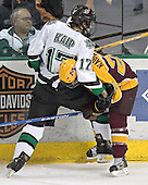 Rylan Kaip, Evan Kaufmann - The University of Minnesota Golden Gophers defeated the University of North Dakota Fighting Sioux 4-3 on Saturday, December 10, 2005 completing a weekend sweep of the Fighting Sioux at the Ralph Engelstad Arena in Grand Forks, North Dakota.