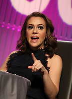 LOS ANGELES, CA - NOVEMBER 1: Alyssa Milano, at TheWrap&rsquo;s  Power Women&rsquo;s Summit - Inside at the InterContinental Hotel in Los Angeles, California on November 1, 2018.   <br /> CAP/MPI/FS<br /> &copy;FS/MPI/Capital Pictures