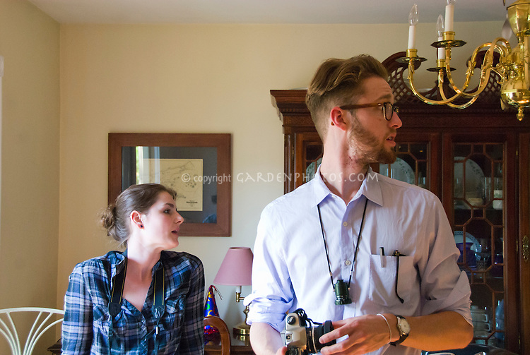 Associate Producer Dani Maczynski with director William J. Stribling on set location Lies I Told My Little Sister film