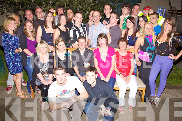 Birthday Boy - Tim O'Connell, seated centre having a ball with family and friends at his 21st birthday bash held at his home in Oakview, Tralee on Saturday night................................................................................................................................................................................................................................................................................ ............