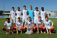 England Team, Back Row (L-R) Harvey Barnes, Josh Grant, George Hirst, Ryan Schofield, Reece James, Ronaldo Vieira. Front Row (L-R) Demetri Mitchell, Elliott Embleton, Joe Worrall, Josh Tymon and David Brooks during England Under-18 vs Ivory Coast Under-20, Toulon Tournament Final Football at Stade de Lattre-de-Tassigny on 10th June 2017