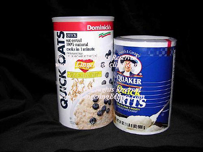 Oatmeal , Grits Cylinder Containers