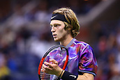 6th September 2017, Flushing Meadowns, New York, USA; ANDREY RUBLEV (RUS) during day ten match of the 2017 US Open on September 06, 2017 at Billie Jean King National Tennis Center, Flushing Meadow, NY.