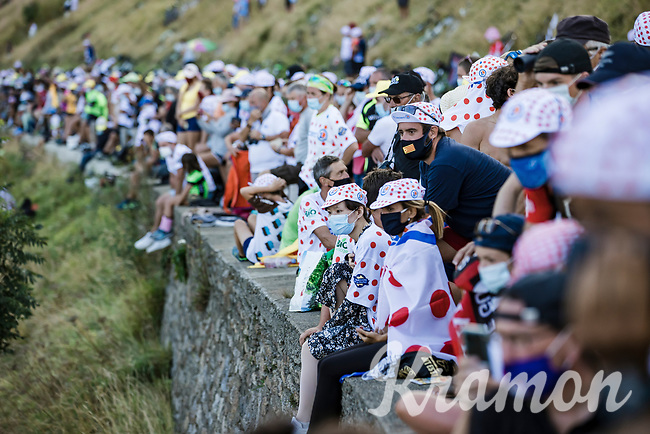 Lots of fans on the Col de Peyresourde<br /> <br /> Stage 8 from Cazères-sur-Garonne to Loudenvielle 141km<br /> 107th Tour de France 2020 (2.UWT)<br /> (the 'postponed edition' held in september)<br /> ©kramon