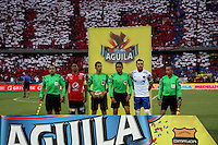 MEDELLÍN -COLOMBIA-19-JUNIO- Harold Perilla referee central .2016.Acción de juego entre los equipos de fútbol Medellín y Junior   durante partido por la final vuelta de la Liga Águila I 2016 jugado en el estadio Atanasio Girardot ./ Harold Perilla central referee. Action game between  Medellin and Junior  during the match for final the Aguila League I 2016 played at Atanasio Girardot  stadium in Medellin . Photo: VizzorImage / Felipe Caicedo  / Staff