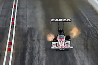 Feb 22, 2014; Chandler, AZ, USA; NHRA top fuel dragster driver Steve Torrence during qualifying for the Carquest Auto Parts Nationals at Wild Horse Motorsports Park. Mandatory Credit: Mark J. Rebilas-USA TODAY Sports