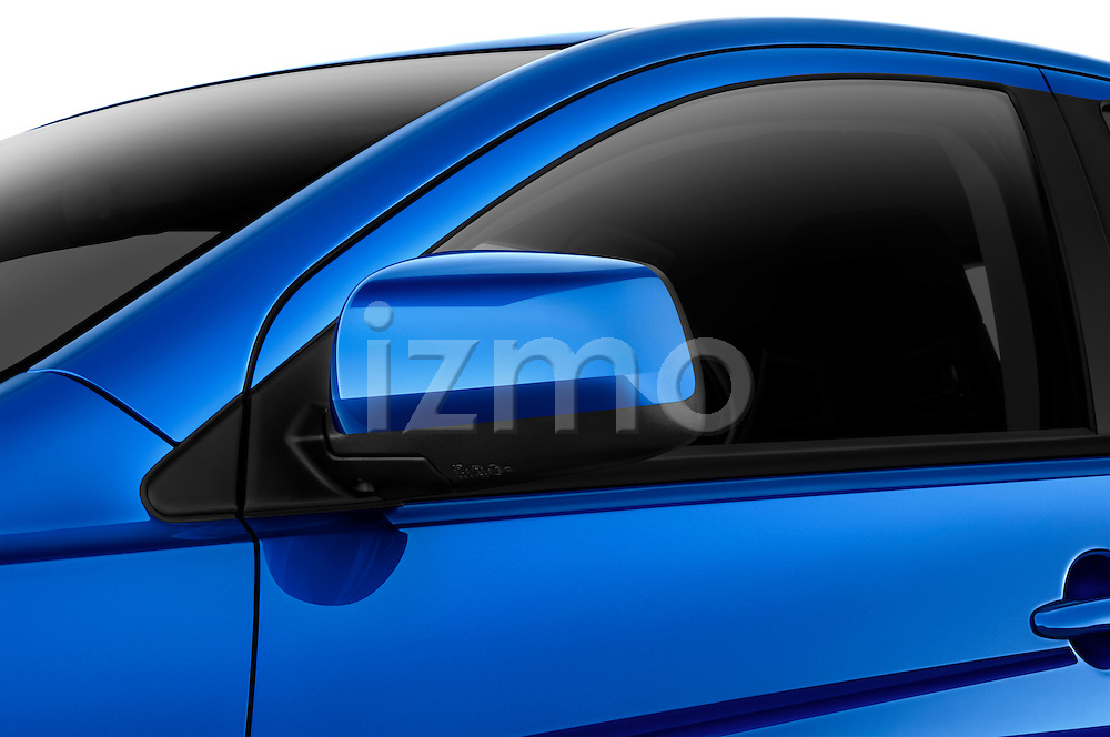 Side mirror detail view of a 2012 Mitsubishi Lancer Sportback GT
