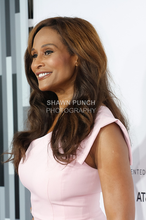 """Beverly Johnson arrives at the Clive Davis: """"The Soundtrack Of Our Lives"""" world premiere for the Opening Night of the 2017 TriBeCa Film Festival on April 19, 2017 at Radio City Music Hall."""