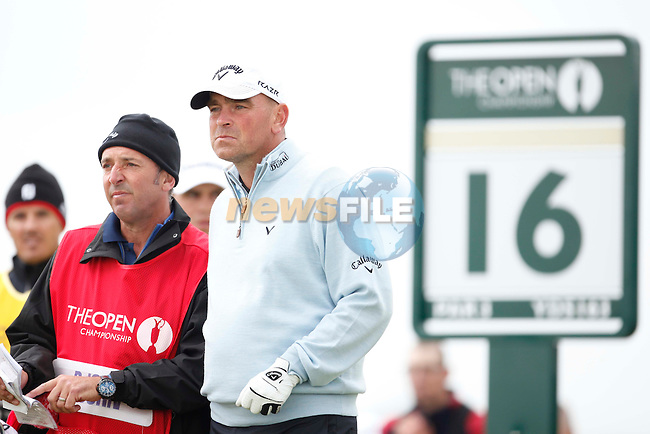Thomas Bjorn (Den) in action during the first round of the 140th Open Championship played at Royal St George's Golf Club on 14th July 2011 in Sandwich, Kent, England (Picture Credit / Phil INGLIS /www.golffile.ie