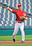 29 May 2011: Washington Nationals infielder Brian Bixler warms up prior to a game against the San Diego Padres at Nationals Park in Washington, District of Columbia. The Padres defeated the Nationals 5-4 to take the rubber match of their 3-game series. Mandatory Credit: Ed Wolfstein Photo