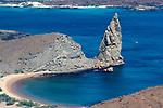 View across beach and bay, Bartolome Island, Galapagos Islands Ecuador