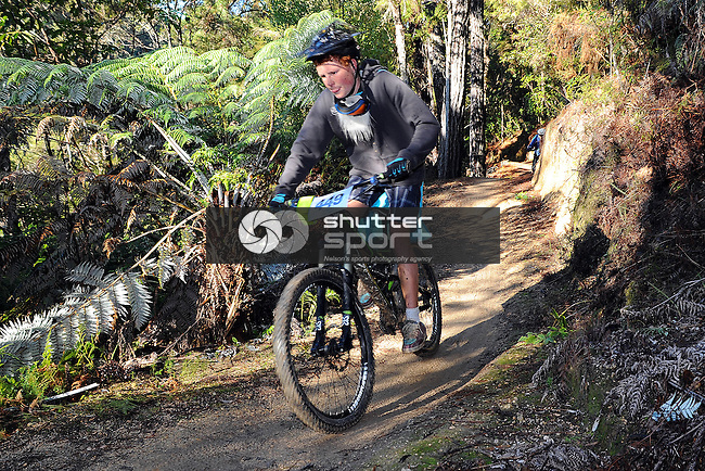 Nelson Mt Bike Club's 6-hour Mid-Winter Breakout at Kaiteriteri MT bike Park. Motueka, Nelson, New Zealand. Sunday 23 June 2013. Photo: Chris Symes/www.shuttersprt.co.nz
