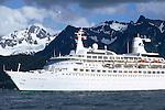 Cruise ship entering Seward, AK
