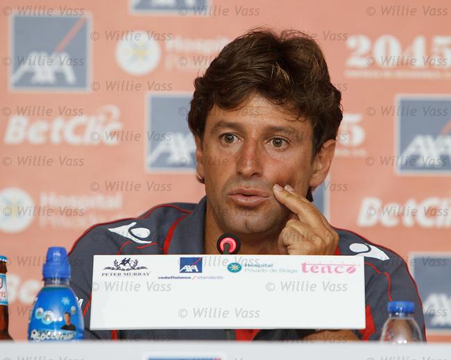 SC Braga boss Domingos Paciencia at the press conference at the AXA Stadium