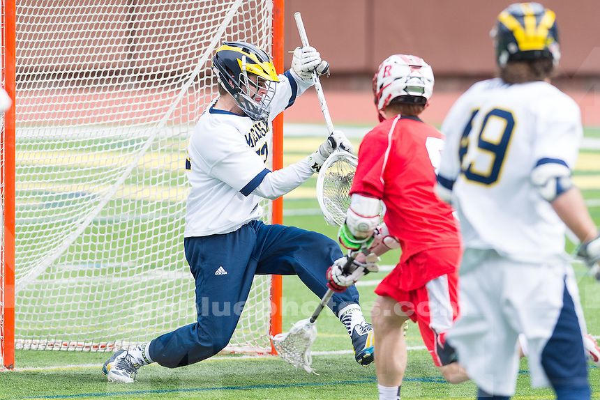 The University of Michigan men's lacrosse team,10-8 victory over Rutgers at Michigan Stadium in Ann Arbor, Mich., on Apr. 05, 2015.