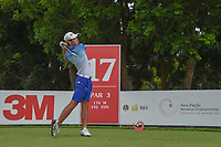 Keita NAKAJIMA (JPN) watches his tee shot on 17 during Rd 3 of the Asia-Pacific Amateur Championship, Sentosa Golf Club, Singapore. 10/6/2018.<br /> Picture: Golffile | Ken Murray<br /> <br /> <br /> All photo usage must carry mandatory copyright credit (© Golffile | Ken Murray)