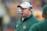 Green Bay Packers Head Coach Mike McCarthy looks on during a Week 11 NFL football game against the Tampa Bay Buccaneers on November 20, 2011 in Green Bay, Wisconsin. The Packers won 35-26. (AP Photo/David Stluka)