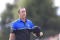 Scott Hend (AUS) finishes tied on the 18th hole during Sunday's Final Round of the 2017 Omega European Masters held at Golf Club Crans-Sur-Sierre, Crans Montana, Switzerland. 10th September 2017.<br /> Picture: Eoin Clarke | Golffile<br /> <br /> <br /> All photos usage must carry mandatory copyright credit (&copy; Golffile | Eoin Clarke)