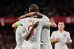England's Harry Kane (L) and Marcus Rashford (R) celebrate goal during UEFA Nations League 2019 match between Spain and England at Benito Villamarin stadium in Sevilla, Spain. October 15, 2018. (ALTERPHOTOS/A. Perez Meca)