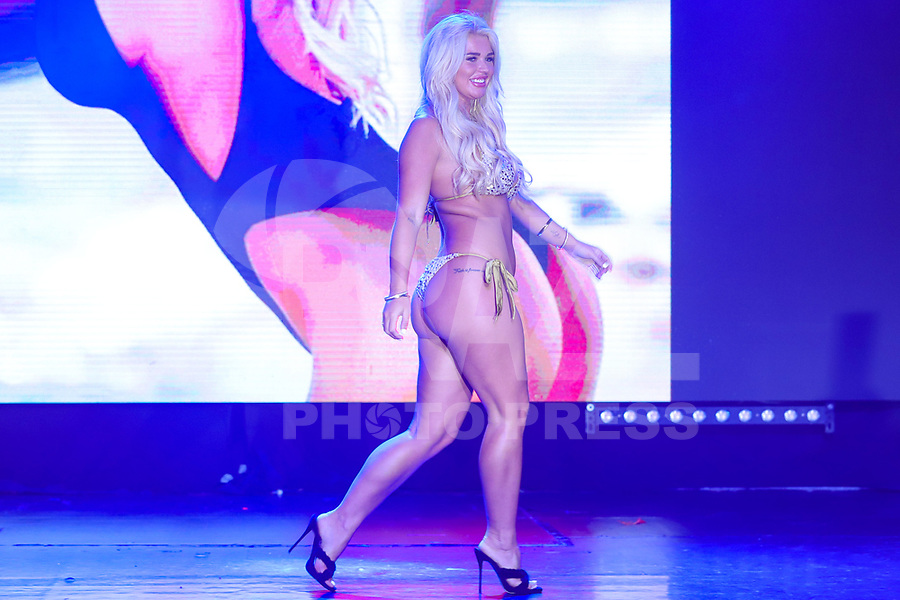 CIDADE DO MÉXICO, MÉXICO, 30.09.2019 - MISS-BUMBUM - Jessica Jensen durante a final do concurso Miss Bumbum World na  ForoTotal Play na Cidade do México na capital mexicana nesta segunda-feira, 30.  (Foto: William Volcov/Brazil Photo Press)