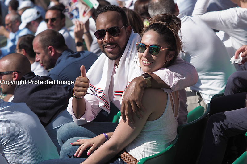 Jean-Luc Guizonne et Charlotte Namura<br /> day 12<br /> Roland Garros 2017
