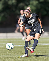 University of Central Florida midfielder Andrea Rodrigues (9) passes the ball. After two overtime periods, Boston College tied University of Central Florida, 2-2, at Newton Campus Field, September 9, 2012.