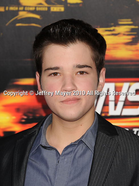"WESTWOOD, CA. - October 26: Nathan Kress arrives at the ""Unstoppable"" Los Angeles Premiere at the Regency Village Theatre on October 26, 2010 in Westwood, California."