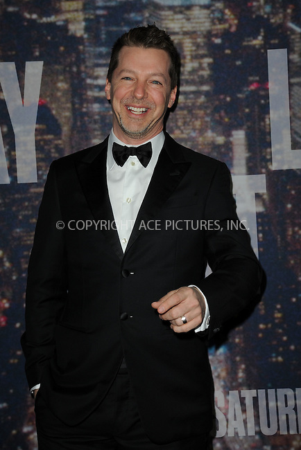 WWW.ACEPIXS.COM<br /> February 15, 2015 New York City<br /> <br /> <br /> Sean Hayes walking the red carpet at the SNL 40th Anniversary Special at 30 Rockefeller Plaza on February 15, 2015 in New York City.<br /> <br /> Please byline: Kristin Callahan/AcePictures<br /> <br /> ACEPIXS.COM<br /> <br /> Tel: (646) 769 0430<br /> e-mail: info@acepixs.com<br /> web: http://www.acepixs.com