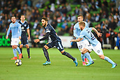 3rd November 2017, Melbourne Rectangular Stadium, Melbourne, Australia; A-League football, Melbourne City FC versus Sydney FC; Joshua Brillante of Sydney FC runs towards the ball
