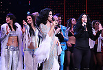 Micaela Diamond, Teal Wicks, Stephanie J. Block and Cher during the Broadway Opening Night Curtain Call of 'The Cher Show'  at Neil Simon Theatre on December 3, 2018 in New York City.