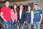 Comedy Hypnotist Night : Pictured with Comedy Hypnotist Adrian Knight at the Listowel Community Centre on Saturday night last were Ger & Caroline O'Sullivan,Areina Knight, Annette O'Flaherty & Sean Connolly.