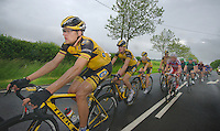 Gerald Ciolek (DEU) followed by teammates &amp; the peloton<br /> <br /> 2013 Skoda Tour de Luxembourg<br /> stage 1: Luxembourg - Hautcharage (184km)