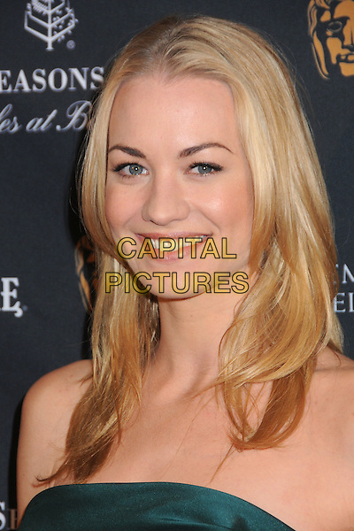 YVONNE STRAHOVSKI .17th Annual BAFTA Los Angeles Awards Season Tea Party held at the Four Seasons Hotel, Beverly Hills, California, USA, 15th January 2011..portrait headshot smiling strapless green .CAP/ADM/BP.©Byron Purvis/AdMedia/Capital Pictures.