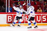 Stockholm 2014-05-03 Ishockey Oddset Hockey Games  Sverige - Finland :  <br /> Finlands Pekka Jormakka jublar efter att ha gjort 1-0<br /> (Foto: Kenta J&ouml;nsson) Nyckelord:  Oddset Hockey Games Sverige Swe Tre Kronor Finland Fin Globen Ericsson Globe Arena jubel gl&auml;dje lycka glad happy