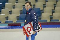 SCHAATSEN: HEERENVEEN: IJsstadion Thialf, 13-03-2004, VikingRace, Jan van Veen (trainer NED)), ©foto Martin de Jong