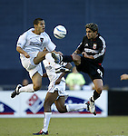 17 October 2004: Craig Ziadie (left) and Jaime Moreno (99) challenge for the ball in the first half. DC United defeated the MetroStars 3-2 at RFK Stadium in Washington, DC during a regular season Major League Soccer game..