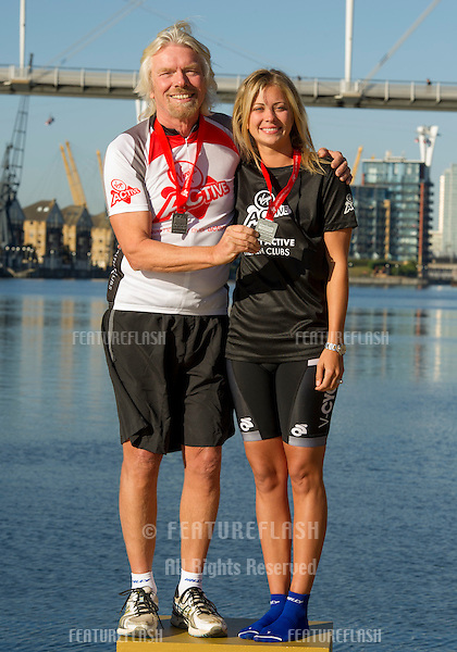 Sir Richard Branson and Holly Branson at the The Virgin Triathlon 2012, Excel Arena,  Docklands, London. 22/09/2012 Picture by: Simon Burchell / Featureflash.
