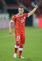 Fussball International  WM Qualifikation 2014   11.09.2012 Schweiz - Albanien Verhaltener Jubel ; Torschuetze zum 1-0 Xherdan SHAQIRI (Schweiz)