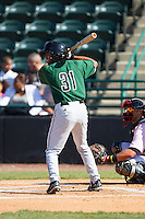 Cristian Paulino (31) of the Augusta GreenJackets at bat against the Hickory Crawdads at L.P. Frans Stadium on May 11, 2014 in Hickory, North Carolina.  The GreenJackets defeated the Crawdads 9-4.  (Brian Westerholt/Four Seam Images)