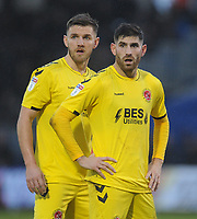Fleetwood Town's Ashley Eastham (left) and Ched Evans wait for a corner<br /> <br /> Photographer Kevin Barnes/CameraSport<br /> <br /> The EFL Sky Bet League One - Bristol Rovers v Fleetwood Town - Saturday 22nd December 2018 - Memorial Stadium - Bristol<br /> <br /> World Copyright © 2018 CameraSport. All rights reserved. 43 Linden Ave. Countesthorpe. Leicester. England. LE8 5PG - Tel: +44 (0) 116 277 4147 - admin@camerasport.com - www.camerasport.com