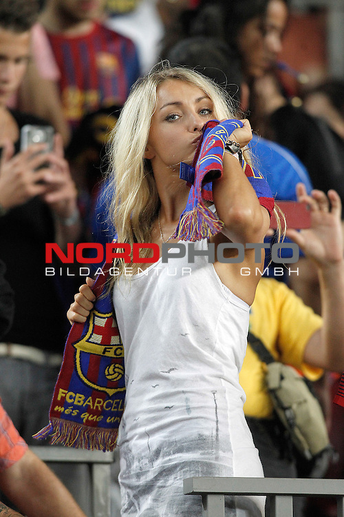 FC Barcelona's supporter during Supercup of Spain 2nd match.August 28,2013. Foto © nph / Acero)