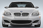 Straight front view of a 2008 BMW M5 Sedan
