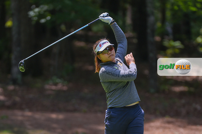 Wichanee Meechai (THA) watches her tee shot on 18 during round 1 of the U.S. Women's Open Championship, Shoal Creek Country Club, at Birmingham, Alabama, USA. 5/31/2018.<br /> Picture: Golffile | Ken Murray<br /> <br /> All photo usage must carry mandatory copyright credit (© Golffile | Ken Murray)