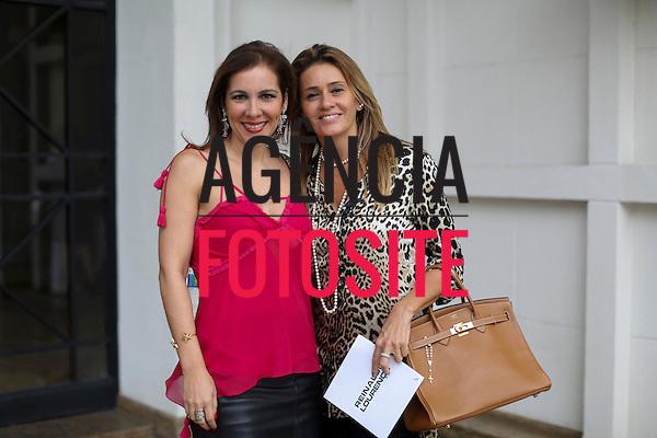 Sao Paulo, Brasil - 04/04/2014 - Fernanda grecco e Denise Marconi no desfile de Reinaldo Lourenco durante o SPFW  - Verao 2015. <br /> Foto : Barbara Dutra/ FOTOSITE