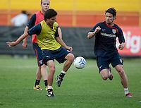 Jose Francisco Torres, Heath Pearce. Stadium Training prior to FIFA World Cup qualifiers USA vs El Salvador at Estadio Cuscatlán Stadium  on March 27, 2009.