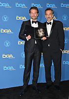 LOS ANGELES, CA. February 02, 2019: Bradley Cooper & Todd Phillips at the 71st Annual Directors Guild of America Awards at the Ray Dolby Ballroom.<br /> Picture: Paul Smith/Featureflash
