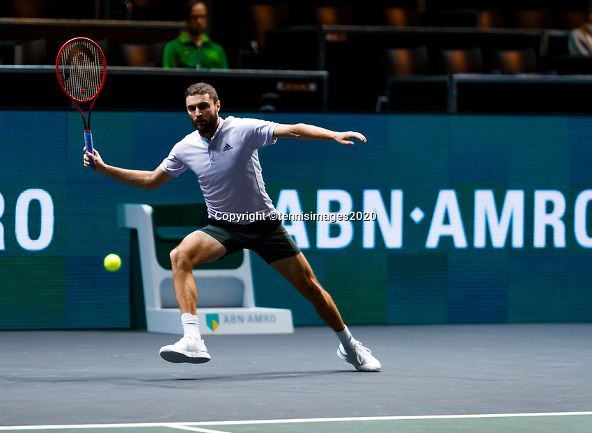 Rotterdam, The Netherlands, 12 Februari 2020, ABNAMRO World Tennis Tournament, Ahoy, Gilles Simon (FRA).<br /> Photo: www.tennisimages.com