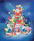 Interlitho, Isabella, CHRISTMAS SANTA, SNOWMAN, paintings, snowmen pyramid(KL5202,#X#)