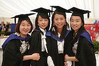 Happy graduates, University of Surrey.