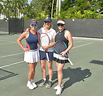 WESTON, FL - DECEMBER 08: Ninoska Malik, Martina Navratilova, former Czechoslovak and American professional tennis player and coach and Elizabeth Signore playing at Midtown Athletic Club Weston on December 08, 2018 in Weston, Florida. ( Photo by Johnny Louis / jlnphotography.com )